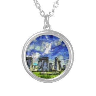 Stonehenge Vincent Van Gogh Silver Plated Necklace