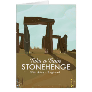Stonehenge Wiltshire Train travel poster Card