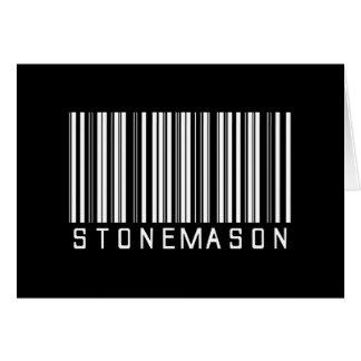 Stonemason Bar Code Card