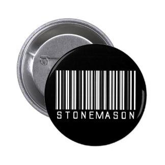 Stonemason Bar Code Pinback Buttons