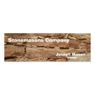 stonemason pack of skinny business cards