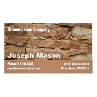 stonemason pack of standard business cards