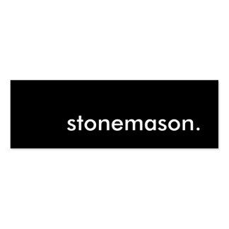 stonemason. business card templates