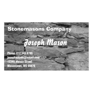 stonemason -  construction pack of standard business cards