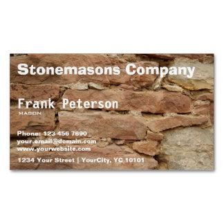 stonemason magnetic business cards