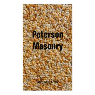 Stonemason masonry pack of standard business cards