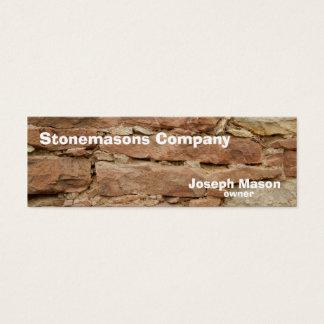 stonemason mini business card