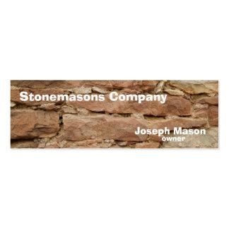 stonemason pack of skinny business cards
