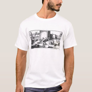 Stonemasons at work, engraved by Lucotte T-Shirt