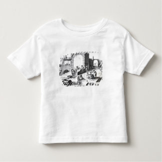 Stonemasons at work, engraved by Lucotte T Shirt