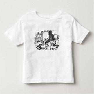 Stonemasons at work, engraved by Lucotte Toddler T-Shirt
