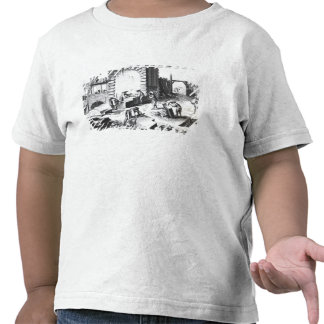 Stonemasons at work, engraved by Lucotte T-shirts