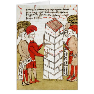 Stonemasons, from 'Traite d'Arpentage' Greeting Card