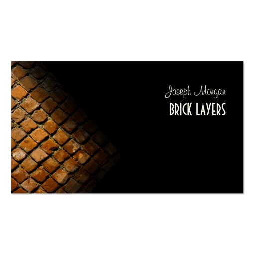 Stonemasons, stone workers business cards