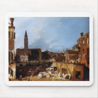 Stonemason's Yard by Canaletto Mouse Pad
