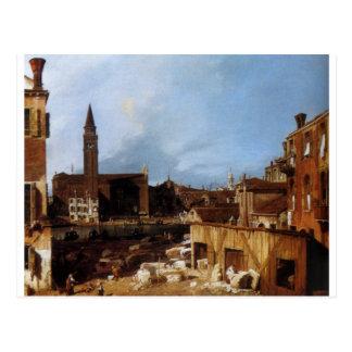 Stonemason's Yard by Canaletto Postcard