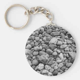 Stones at the Baltic Sea grey Basic Round Button Key Ring