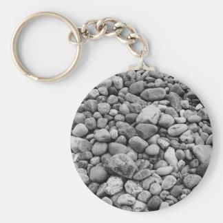 Stones at the Baltic Sea grey Key Ring