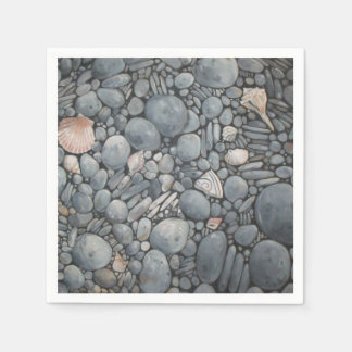Stones Beach Pebbles Rocks Disposable Napkin