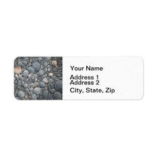 Stones Beach Pebbles Rocks Return Address Label