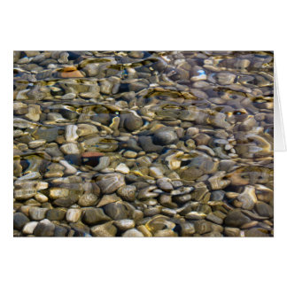 stones in the water greeting card