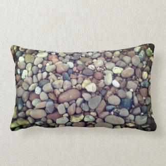 Stones Pebbles Photo Lumbar Pillow