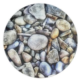 Stones Pebbles Texture Party Plate