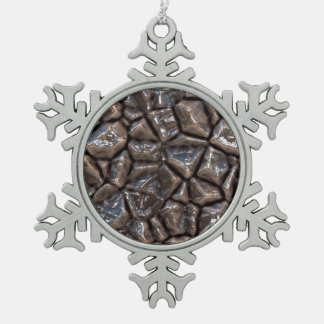 stones surface v1 snowflake pewter christmas ornament