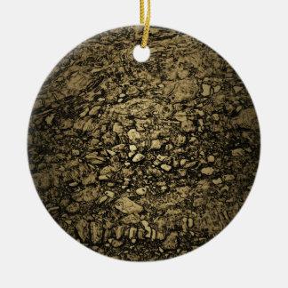 Stones under water | round ceramic decoration