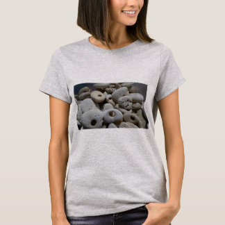 Stones with holes cute cool grey T-Shirt