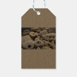 Stones with holes labels
