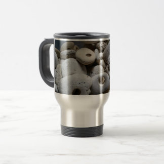 Stones with holes unusual travel mug