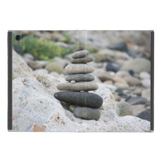 Stones zen in the beach of Almeria Cover For iPad Mini