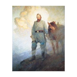 Stonewall Jackson by NC Wyeth Stretched Canvas Prints
