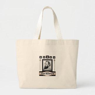 stonewall jackson history large tote bag
