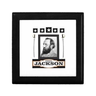 stonewall jackson history small square gift box