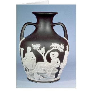Stoneware, copy of the Portland Vase Card