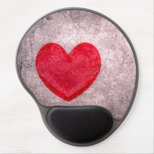 Stonewashed Heart Gel Mouse Mats
