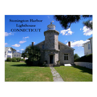 Stonington Harbor Lighthouse, Connecticut Postcard
