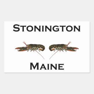 Stonington Maine Lobsters Rectangular Sticker