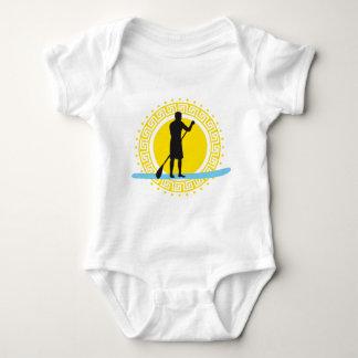 Stood UP paddling one woman Baby Bodysuit