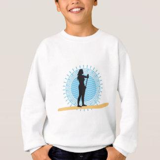 Stood UP paddling one woman Sweatshirt