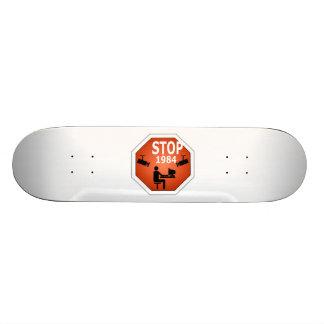 Stop 1984 Sign Skateboard