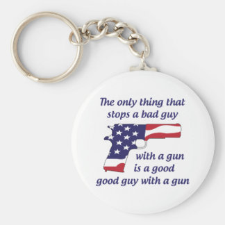 Stop A Bad Guy Basic Round Button Key Ring