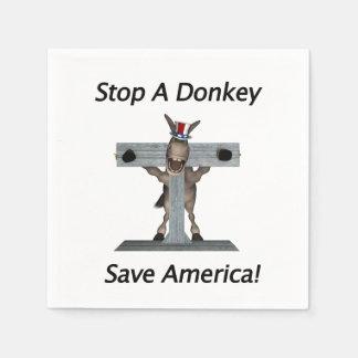 Stop A Donkey - Save America Paper Napkin