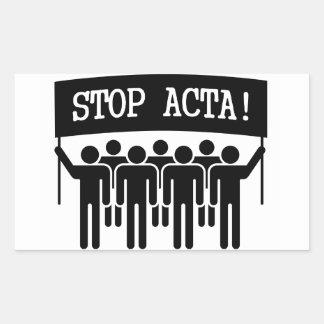 Stop ACTA Rectangular Sticker