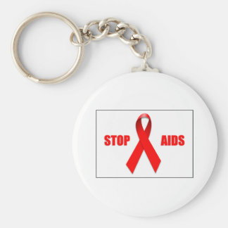 STOP AIDS KEY CHAIN