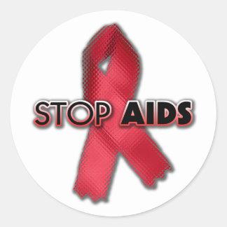 Stop AIDS (Line) Classic Round Sticker
