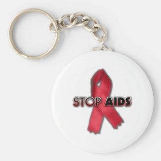 Stop AIDS (Line) Key Chains