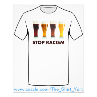 Stop Alcohol Racism Beer Equality 11.5 Cm X 14 Cm Flyer